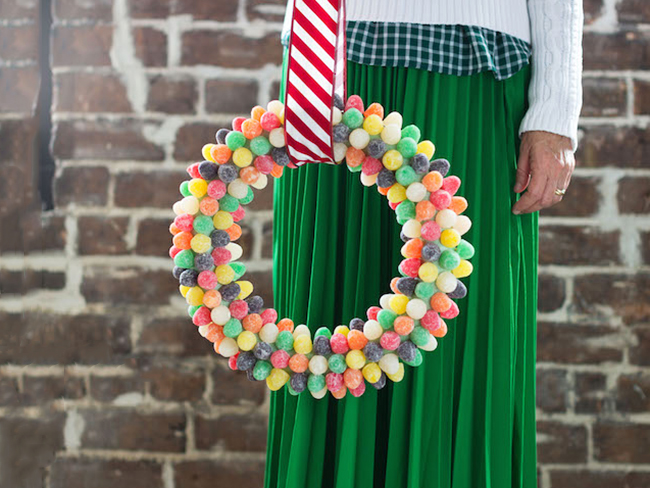 gum drop wreath