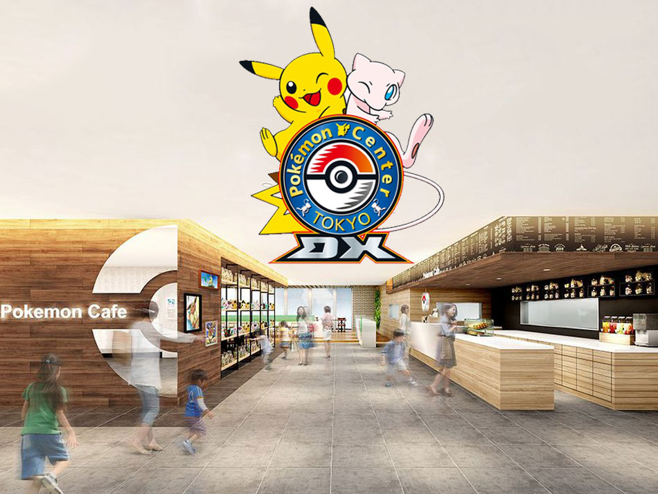 permanent pokemon cafe in shopping center in tokyo