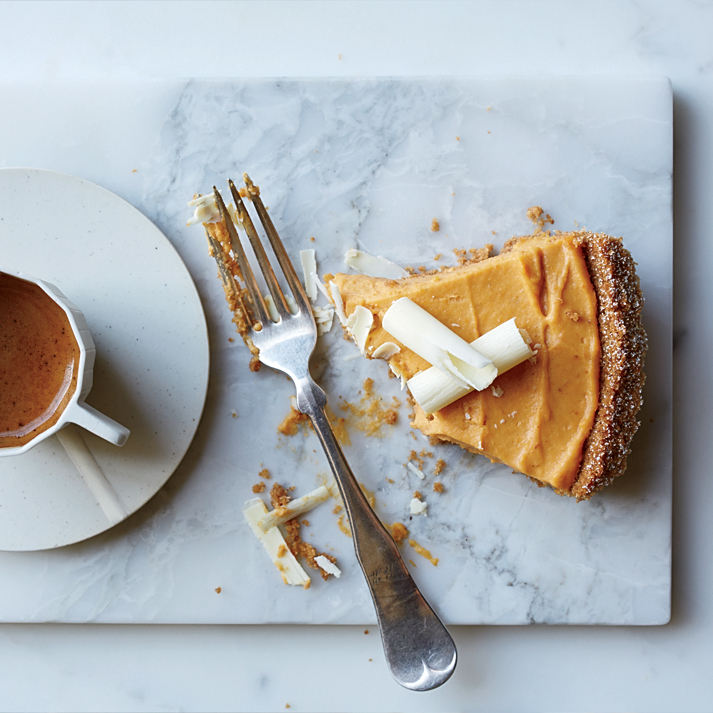 Pumpkin–and–White Chocolate Mousse Pie
