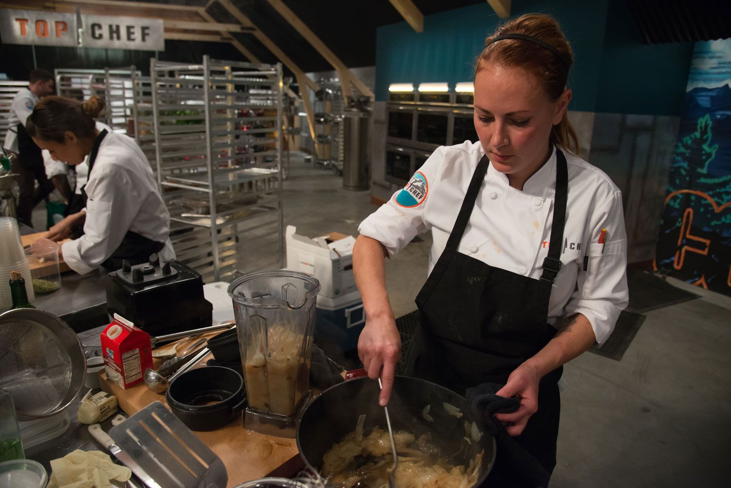 Chef Melissa Perfit on Top Chef season 15.