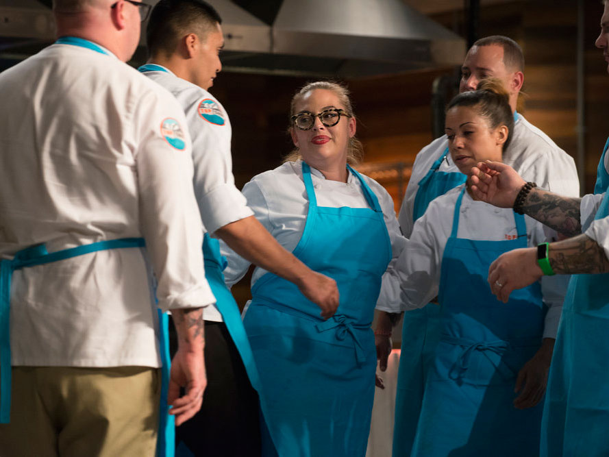 Chef Claudette Zepeda-Wilkins is sent home.