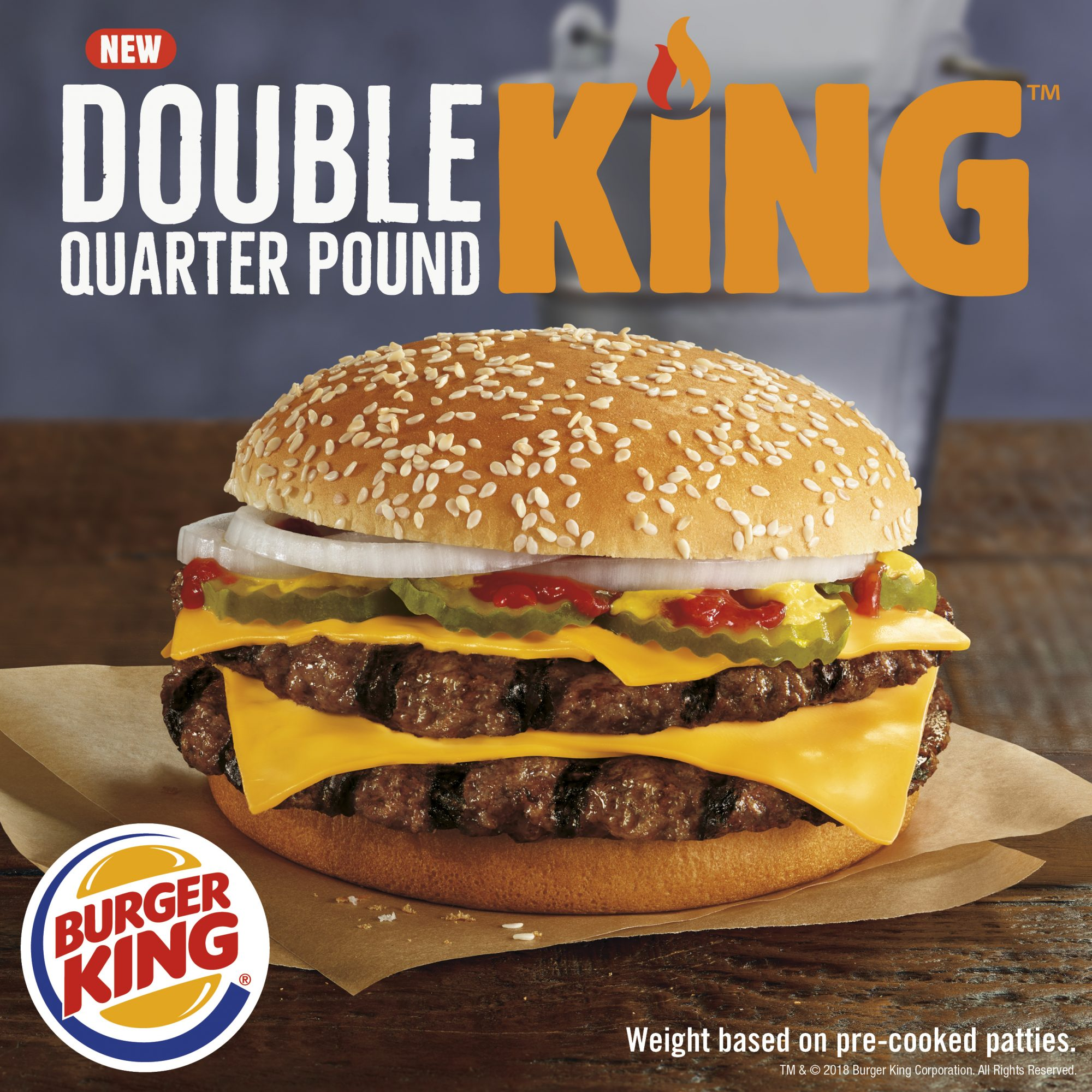 Burger King Double Quarter Pound KING™ Sandwich