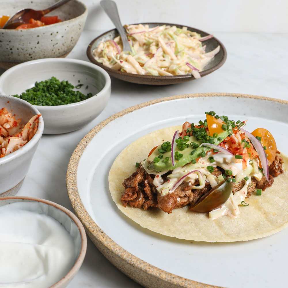 Korean-Mexican Tacos