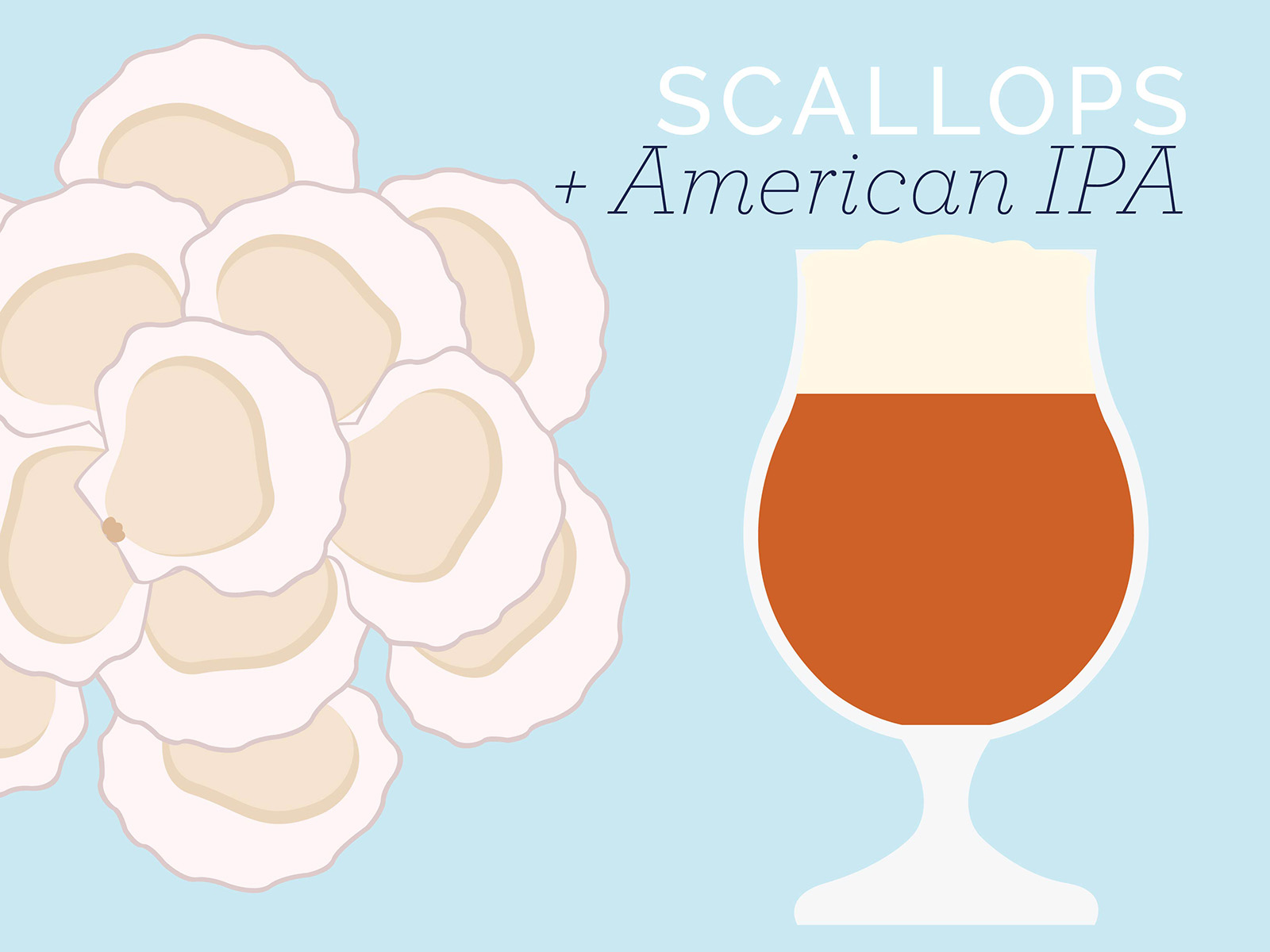 scallops and american ipa