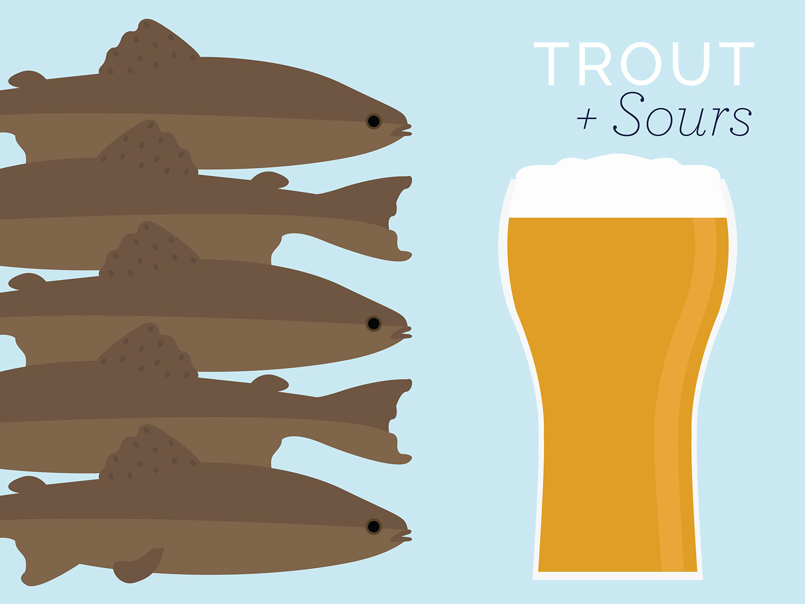 trout and sour beers pair well