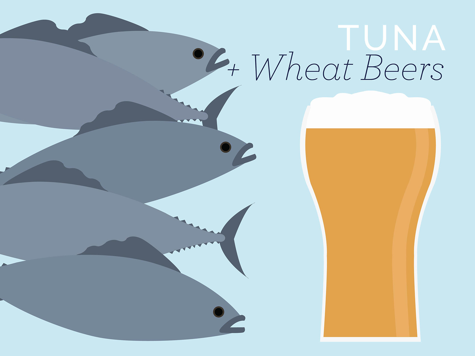 tuna and wheat beers