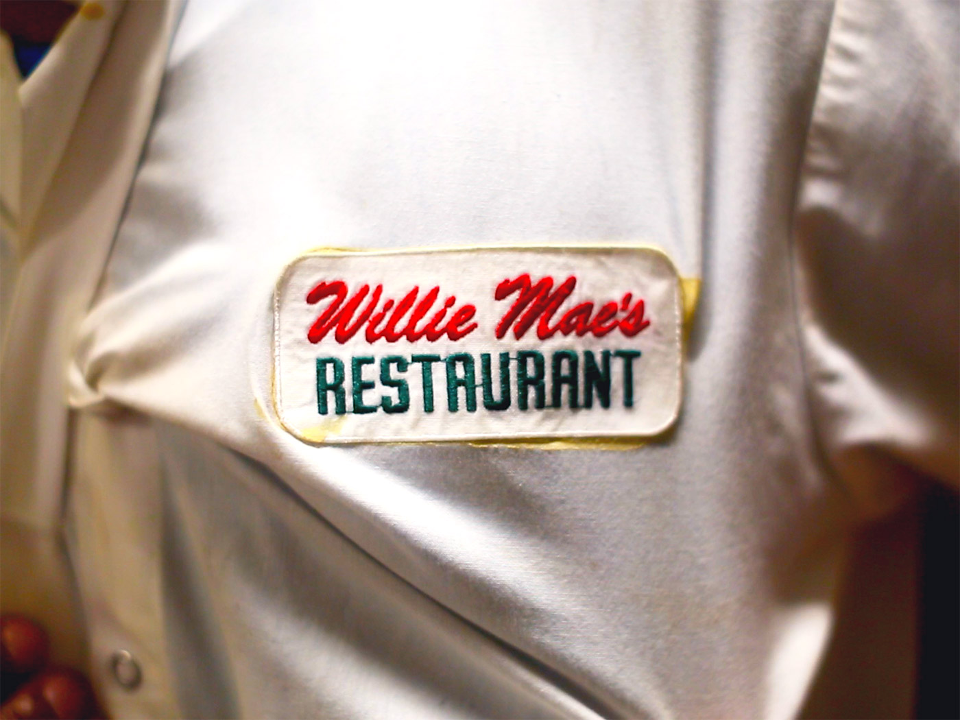 willie maes uniform close up fried chicken