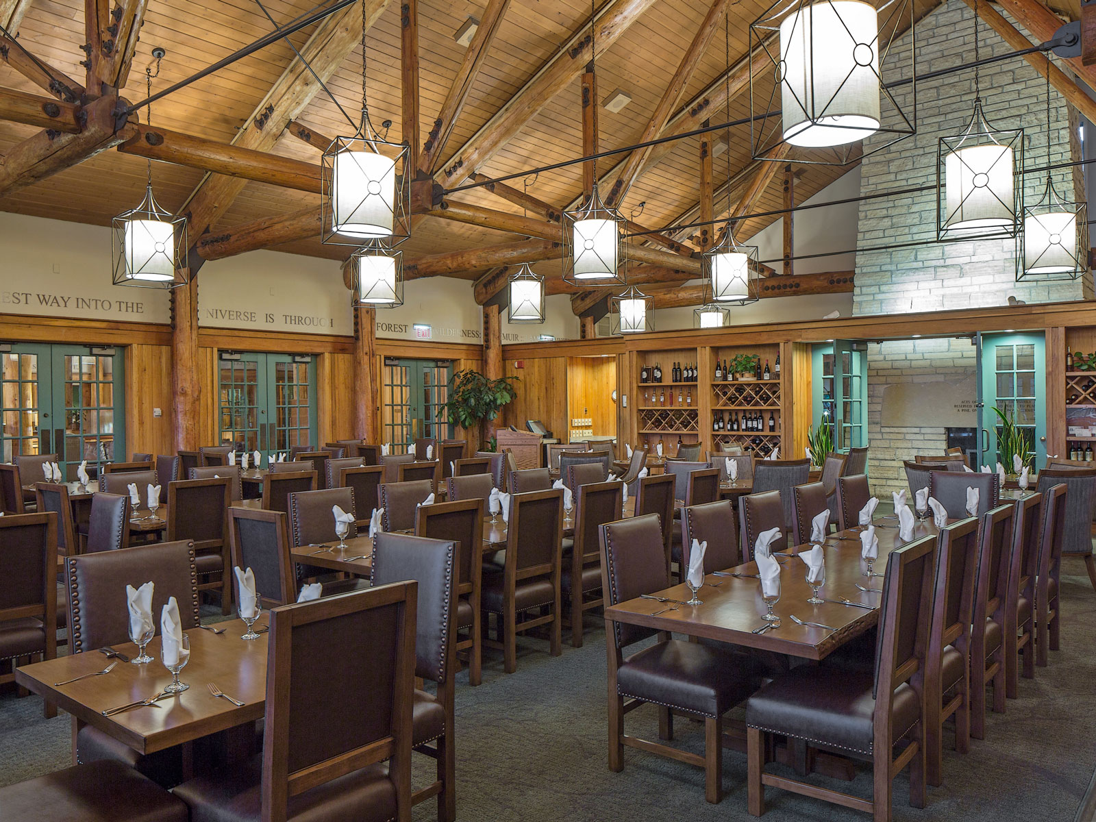 Timber Dining Room at Lied Lodge