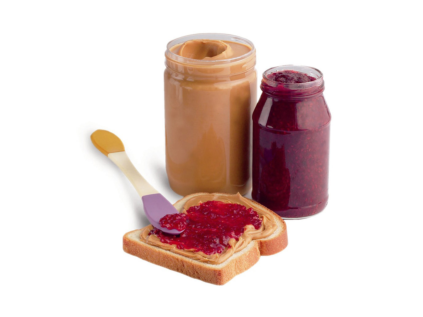 peanut butter and jelly spoon double sided