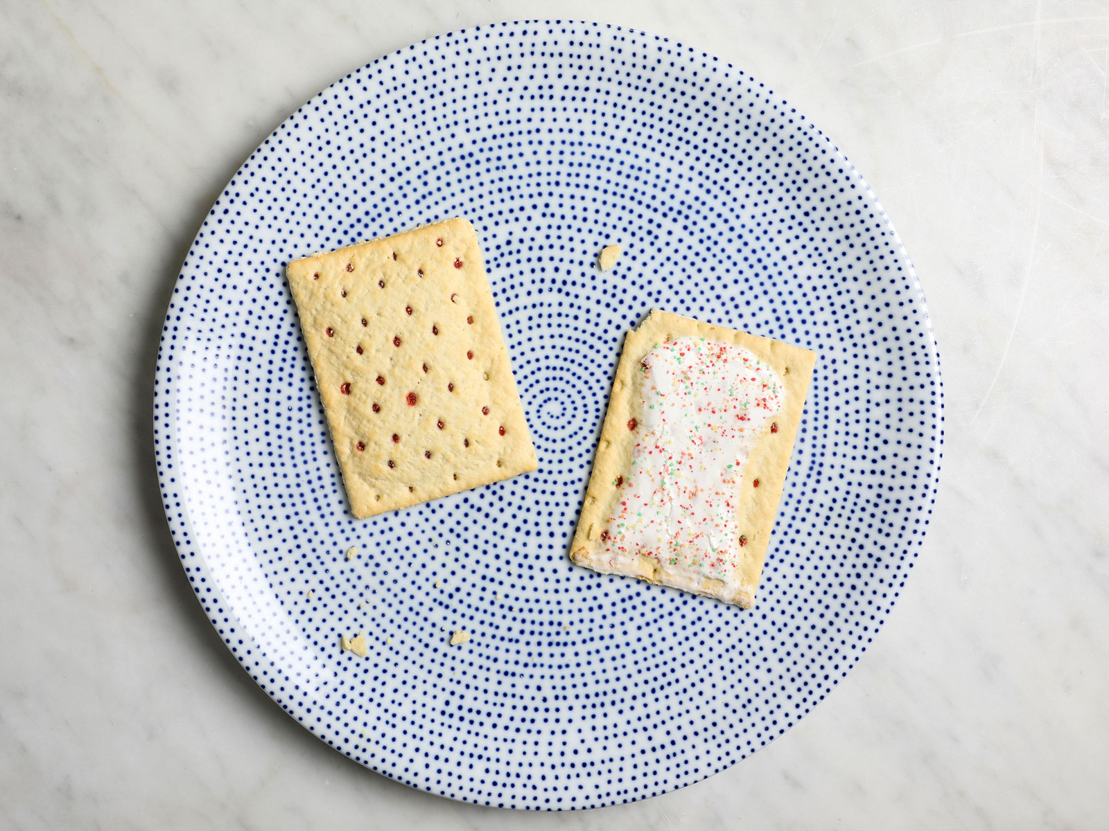 Frosted and Unfrosted Strawberry Poptarts