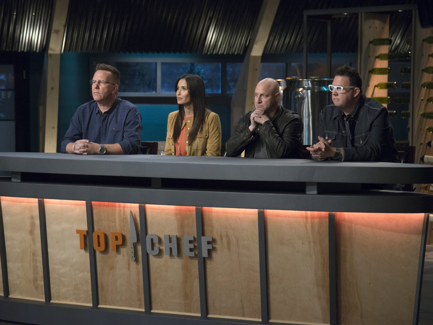 The judges on episode 6 of Top Chef