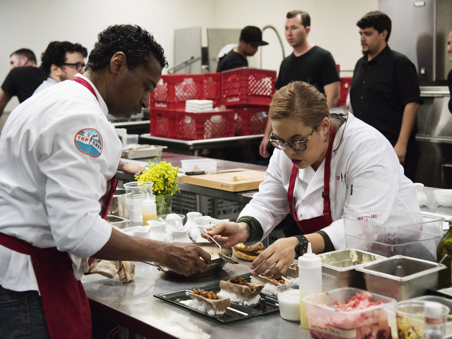 Claudette and Chris on Top Chef