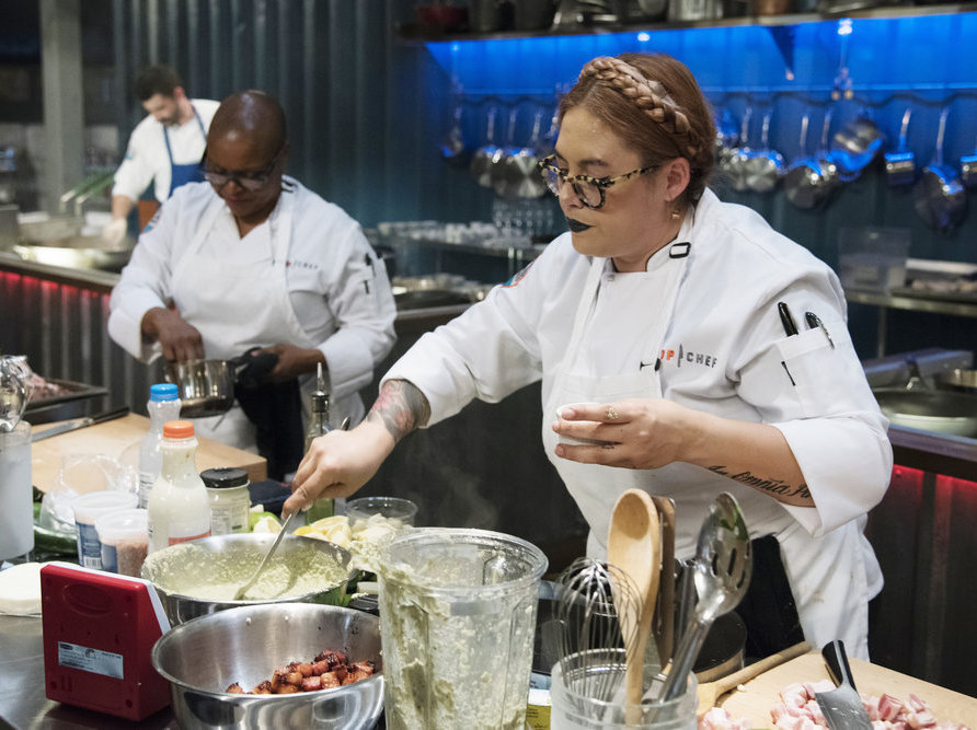 Claudette Zepeda Wilkins and Tanya Holland on Top Chef