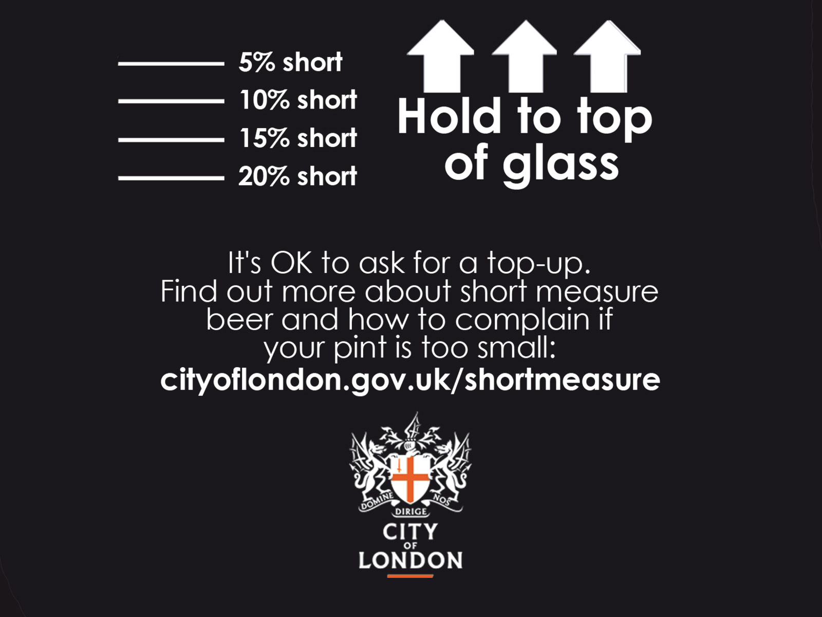 short measure for a pint of beer