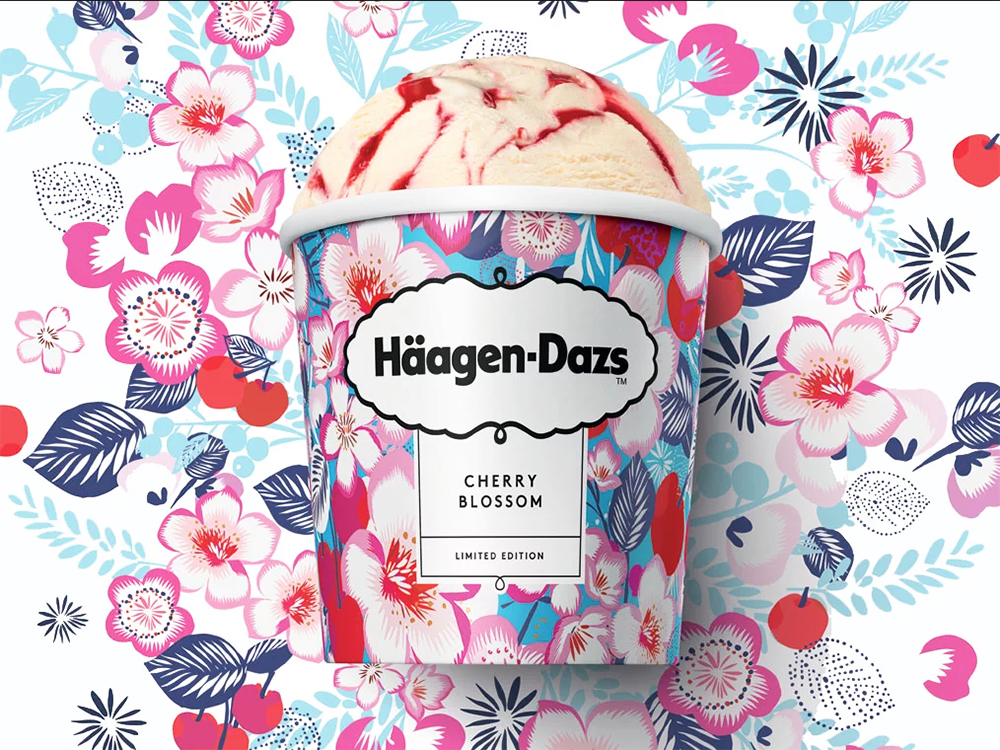 haagen dazs cherry blossom ice cream available in the uk