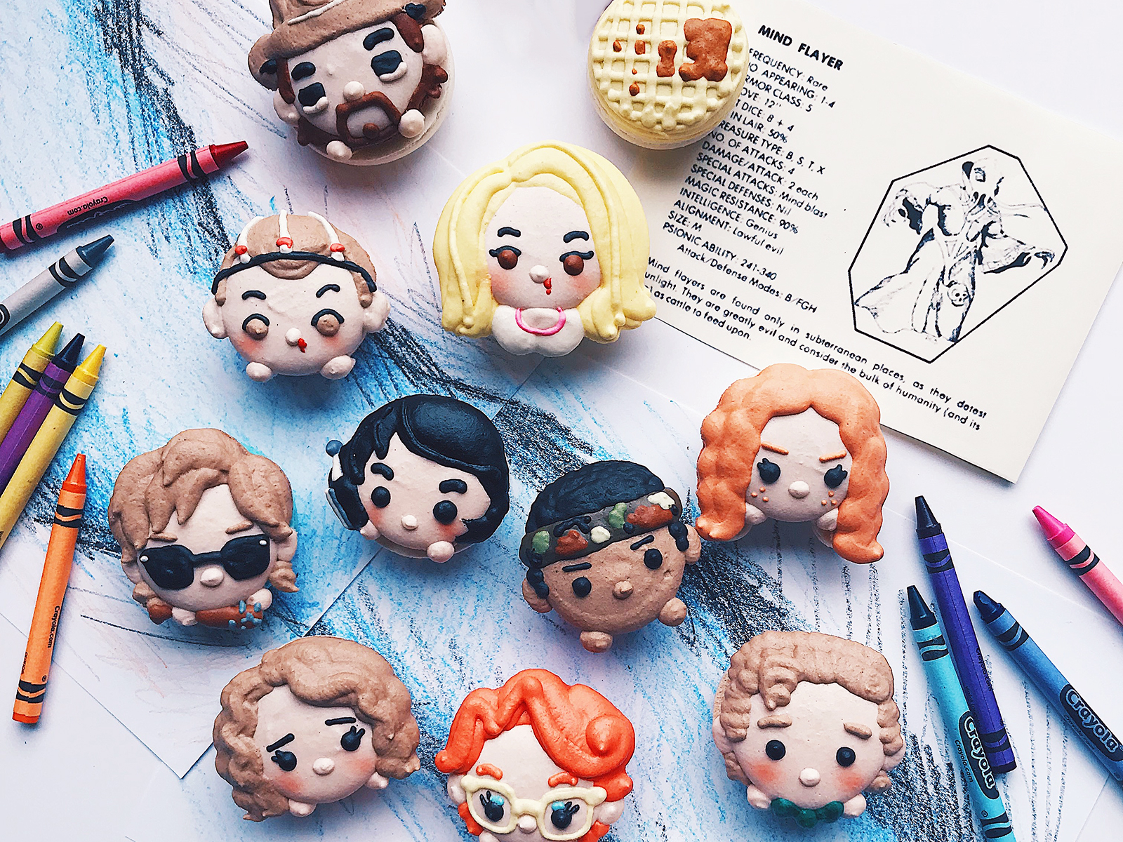 stranger things macarons