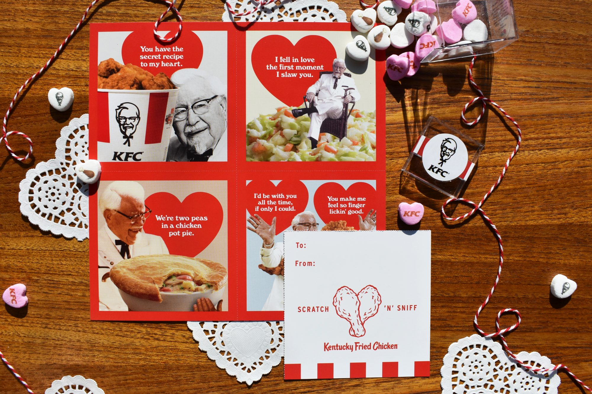 KFC's Scratch 'N' Sniff Valentines Smell Like Fried Chicken