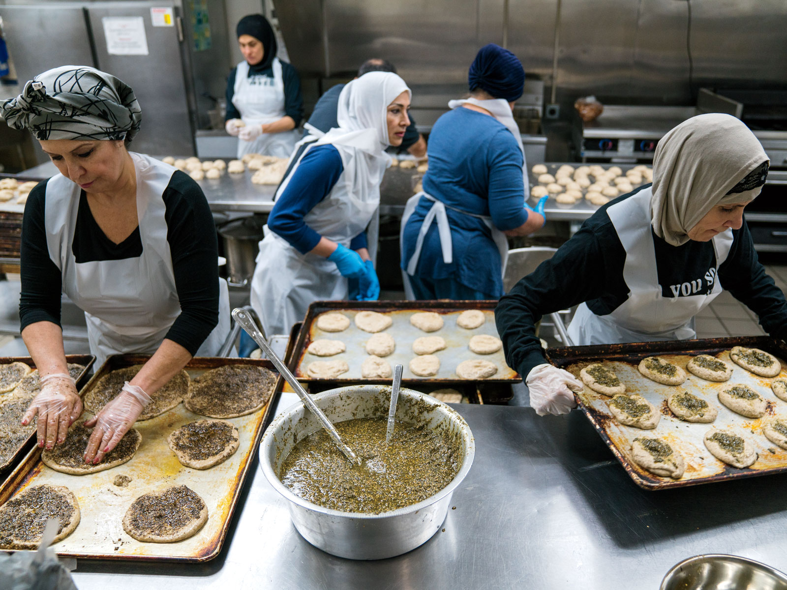 Making Za'atar Flatbreads