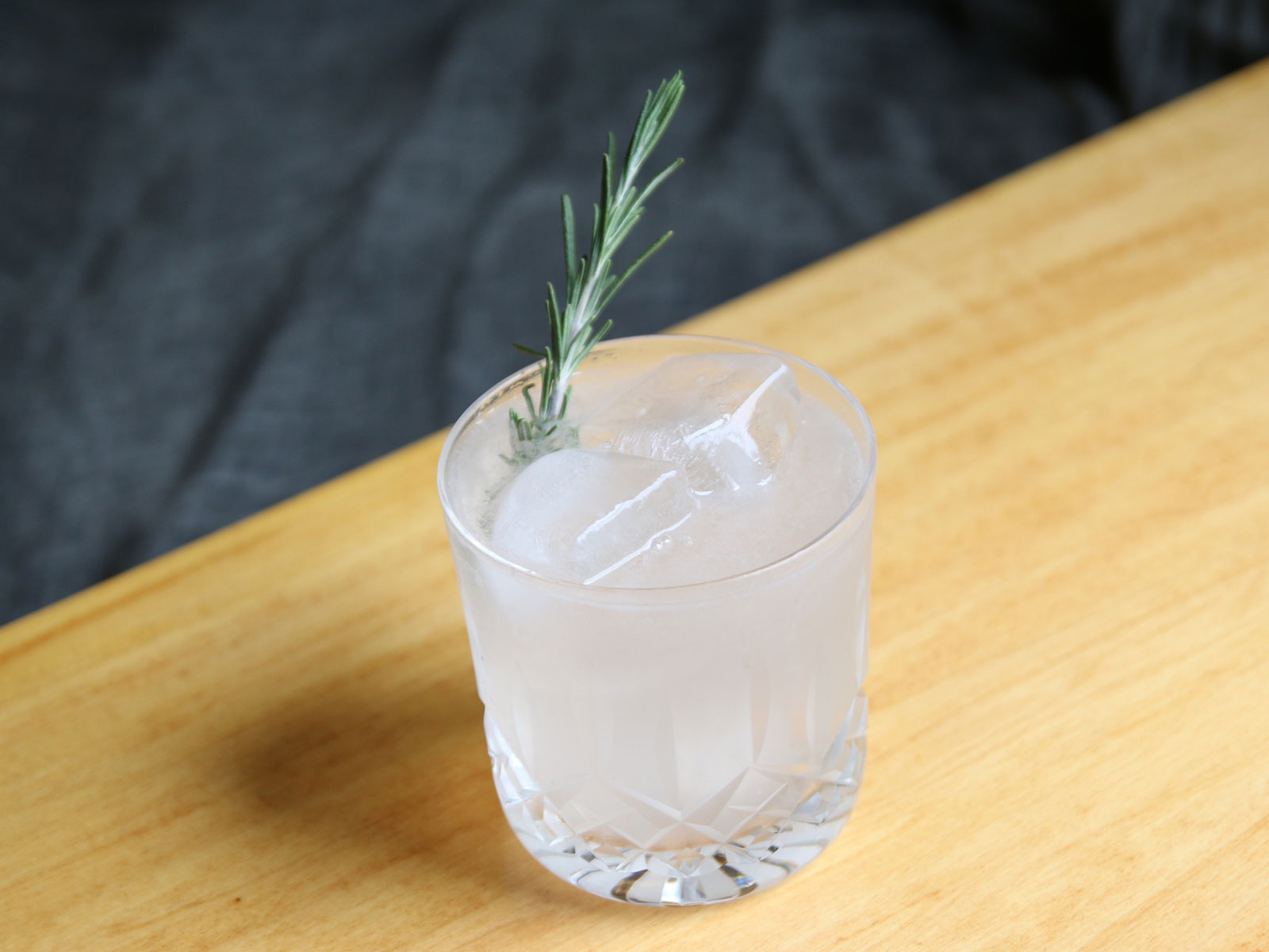 Rosemary sparkling cocktail