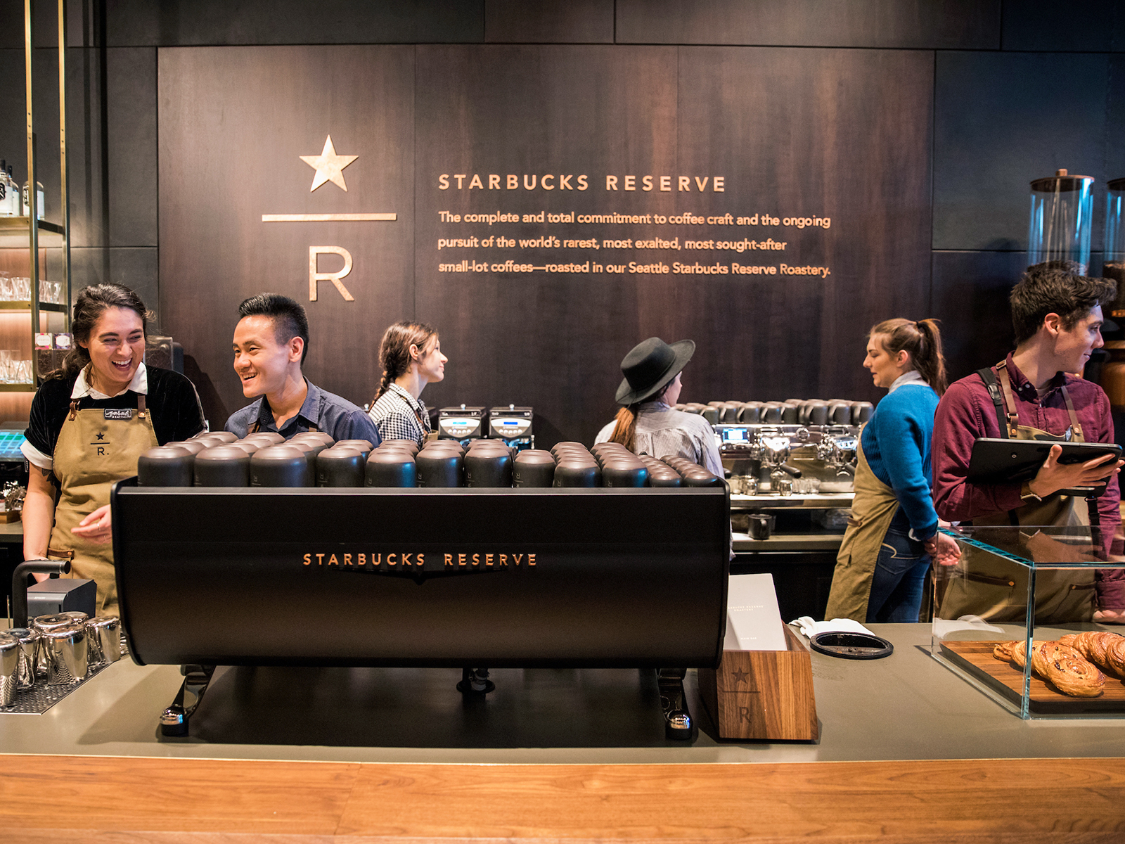 behind the counter at reserve store