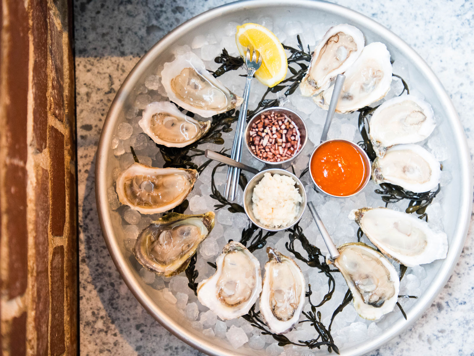 Oysters at The Gray Canary