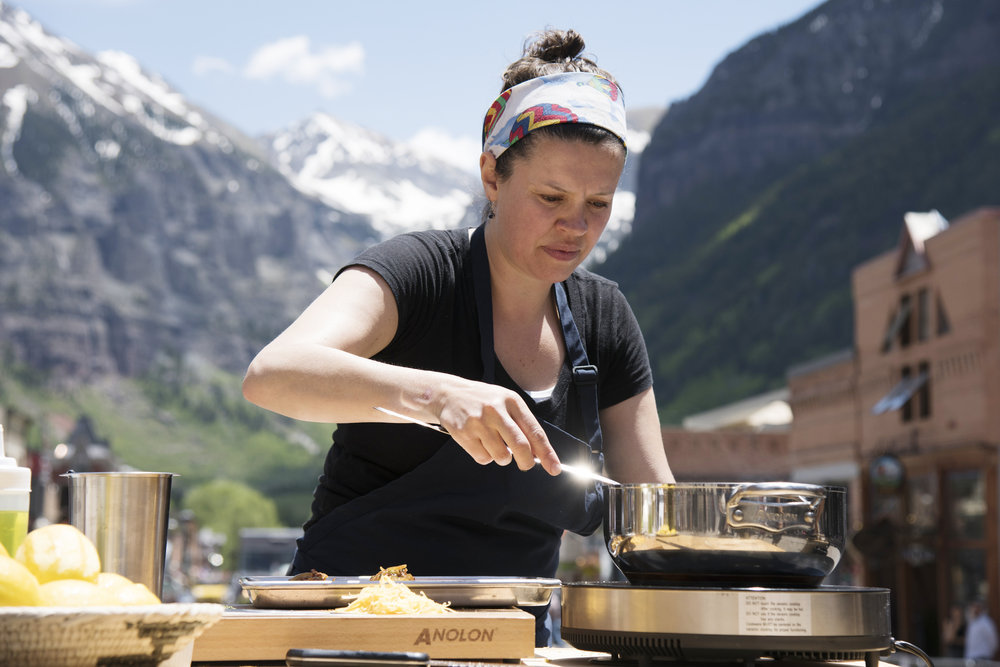 Carrie Baird on Top Chef in Telluride
