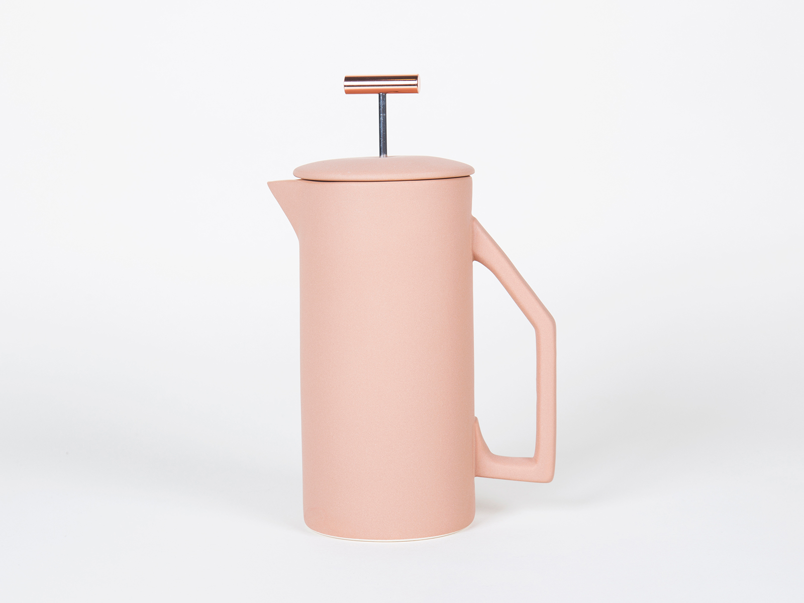 sand pink colored french press