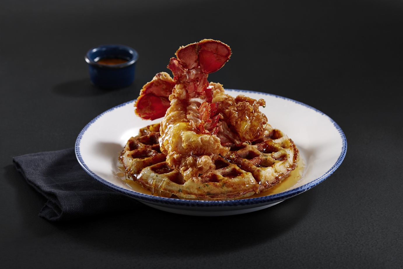 Fried Lobster and Waffles at Red Lobster