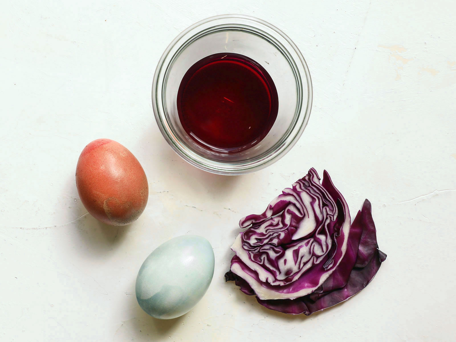Cabbage Easter Egg Dye