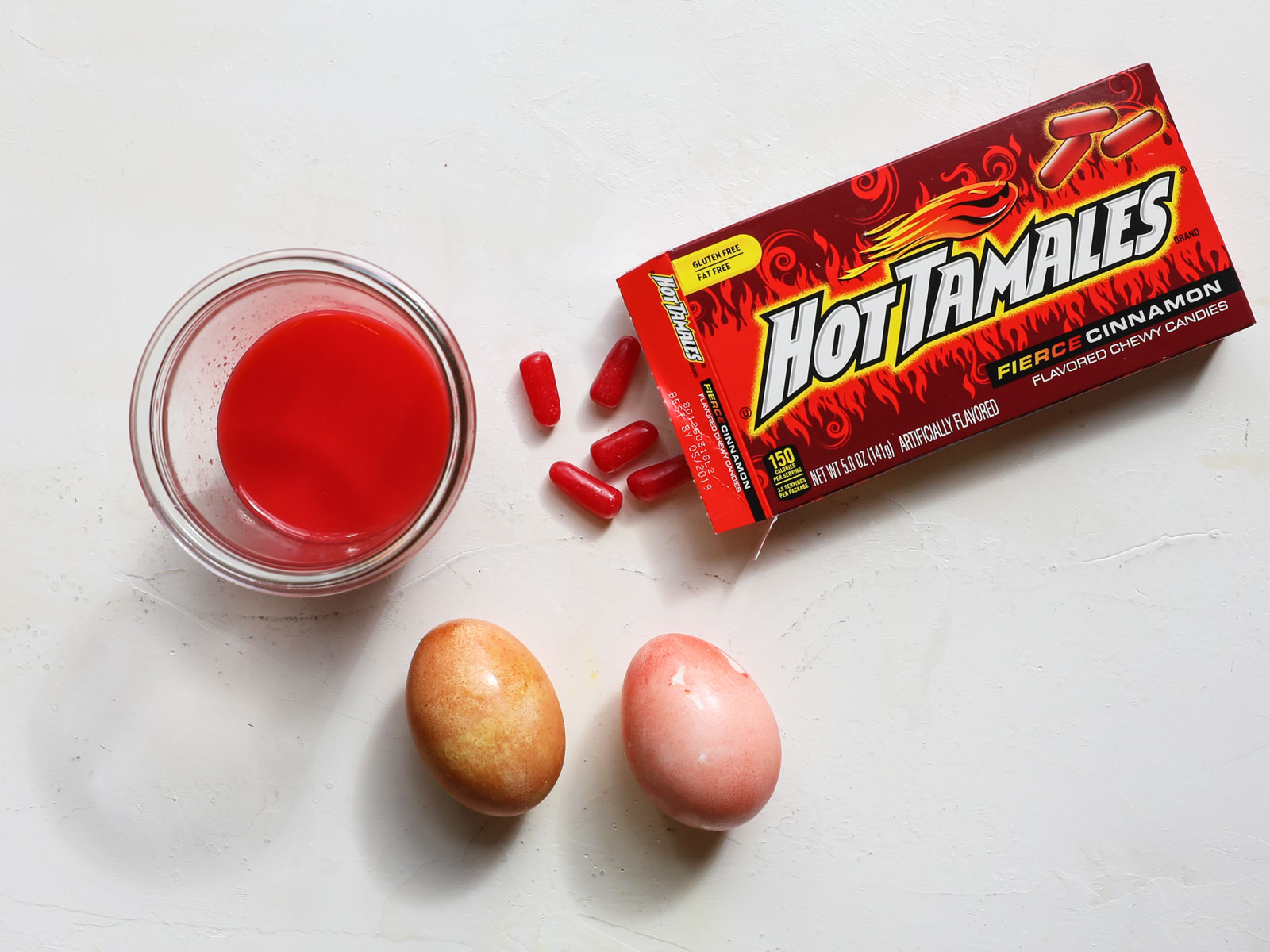 Hot Tamales Easter Egg Dye