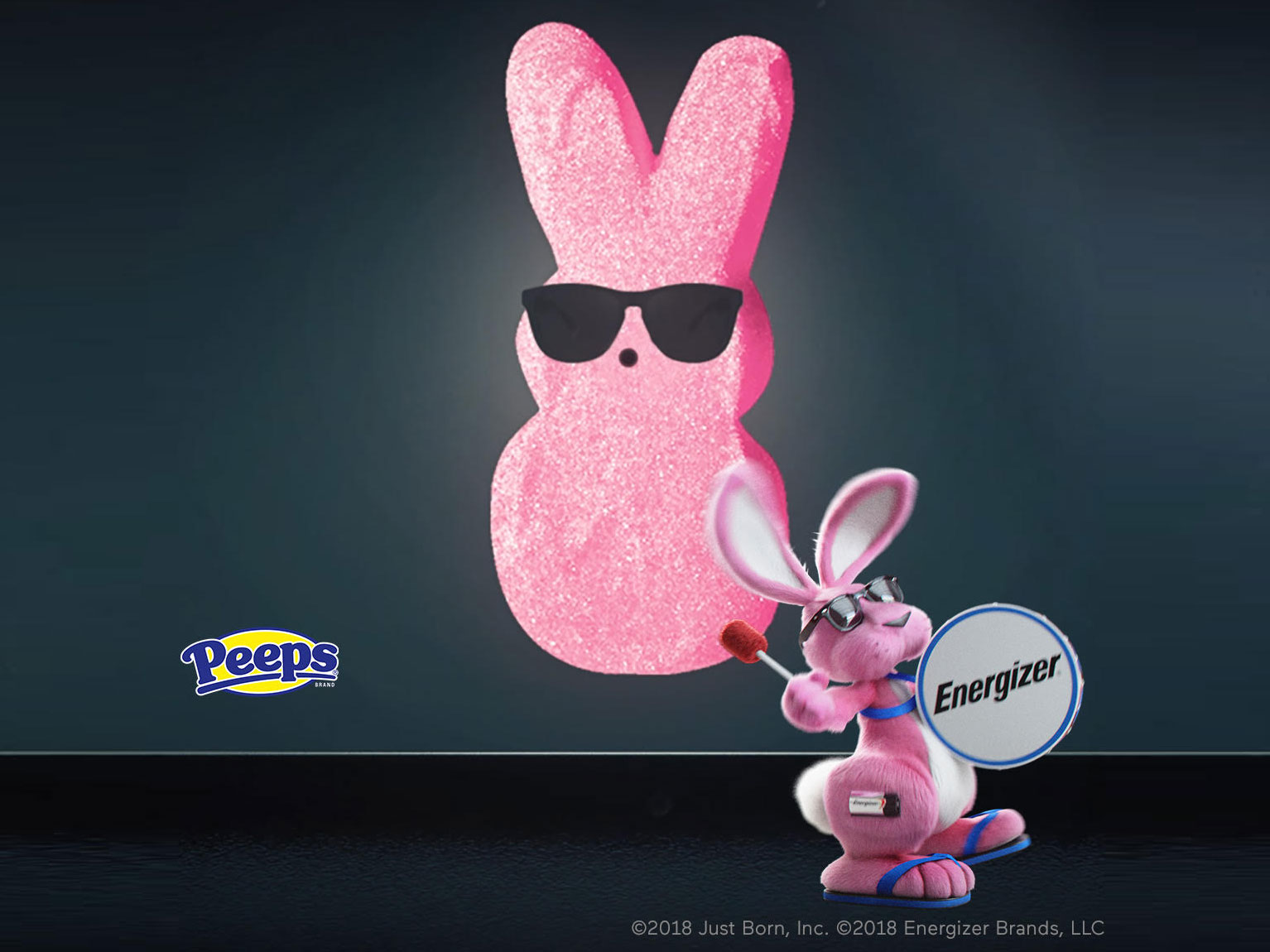 Peeps and the Energizer Bunny