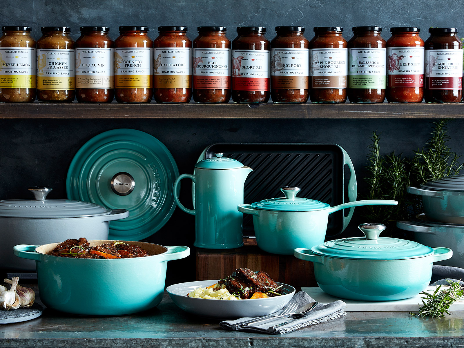 mint collection of le creuset on sale williams sonoma