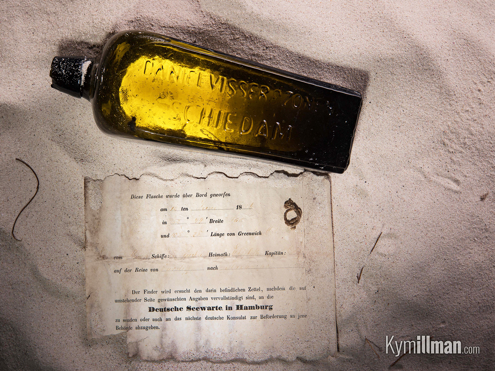 oldest message in a bottle