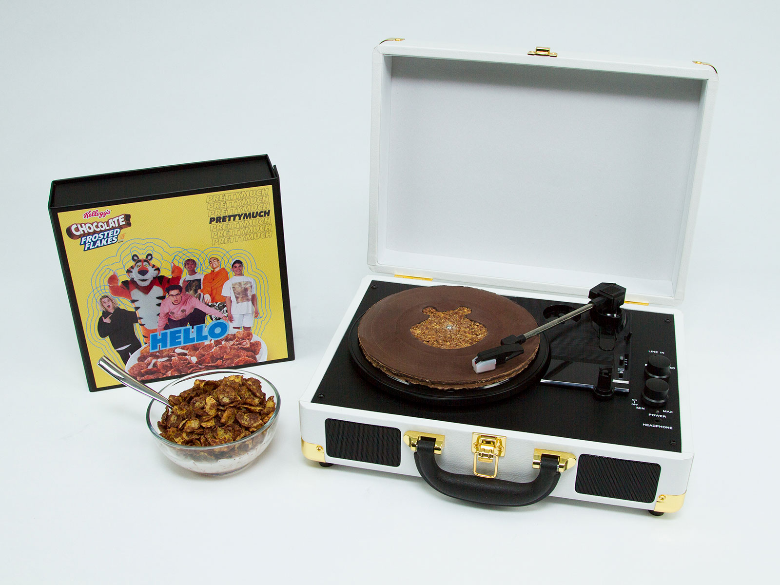 Chocolate Frosted Flakes Record Player