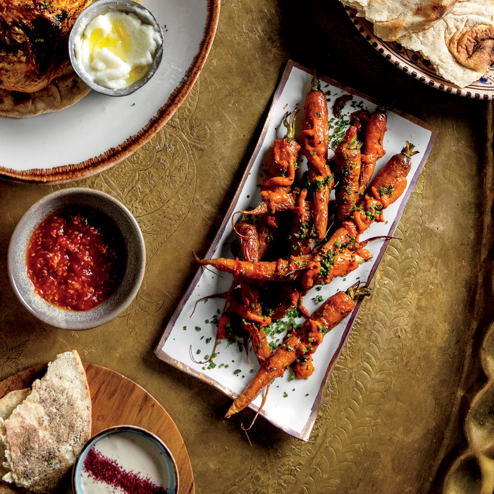 Grilled Carrots with Lemon and Harissa