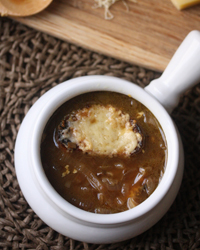 French Onion Soup with Whole Grain Cheese Toast