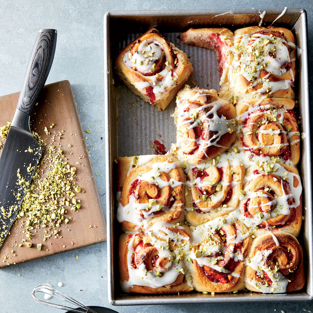 Strawberry-Pistachio Sweet Rolls