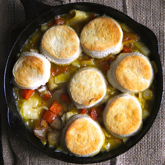 Skillet Biscuit Pot Pie