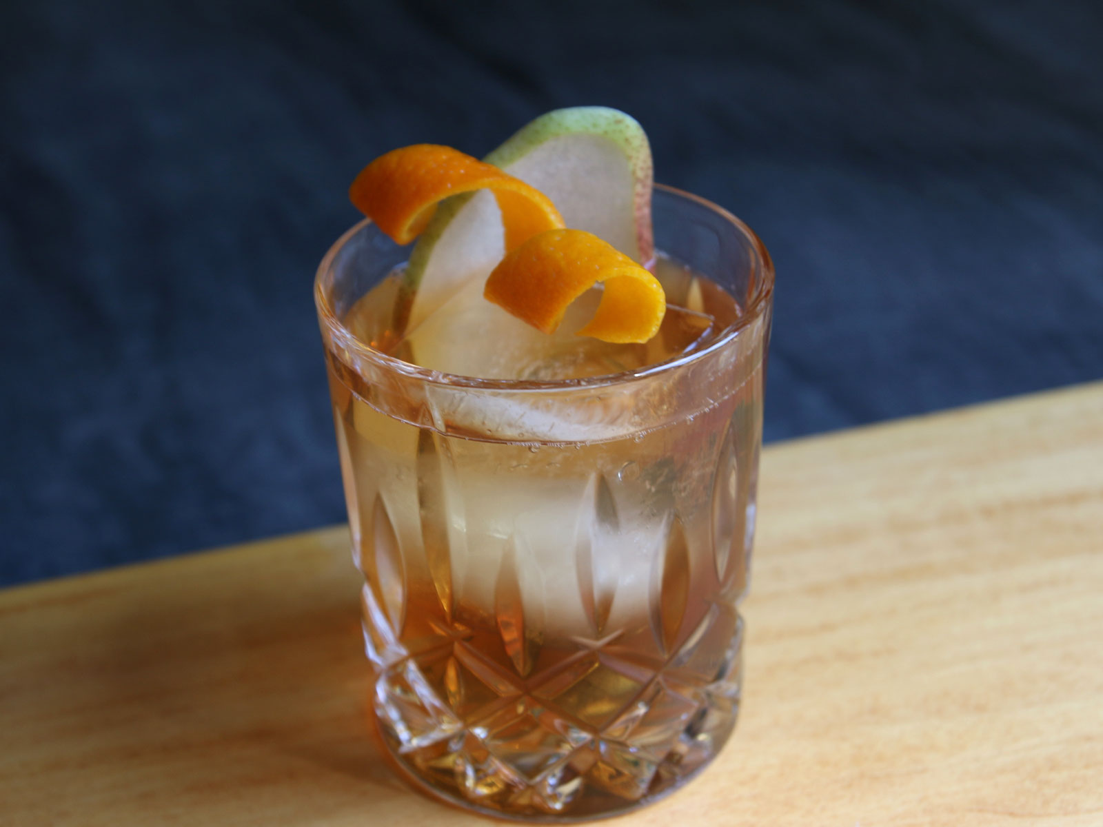 Rum, Sherry, and Pear Cocktail