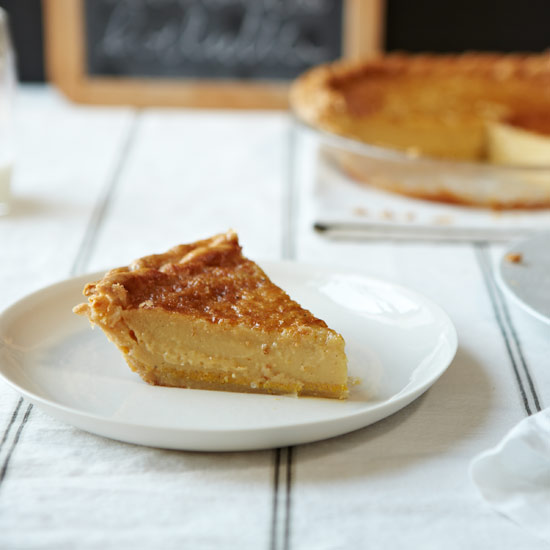 Chess Pie with Crème Fraîche and Vanilla