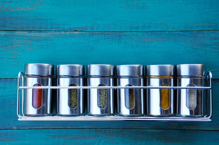 Spices condiments meal prep food ingredients