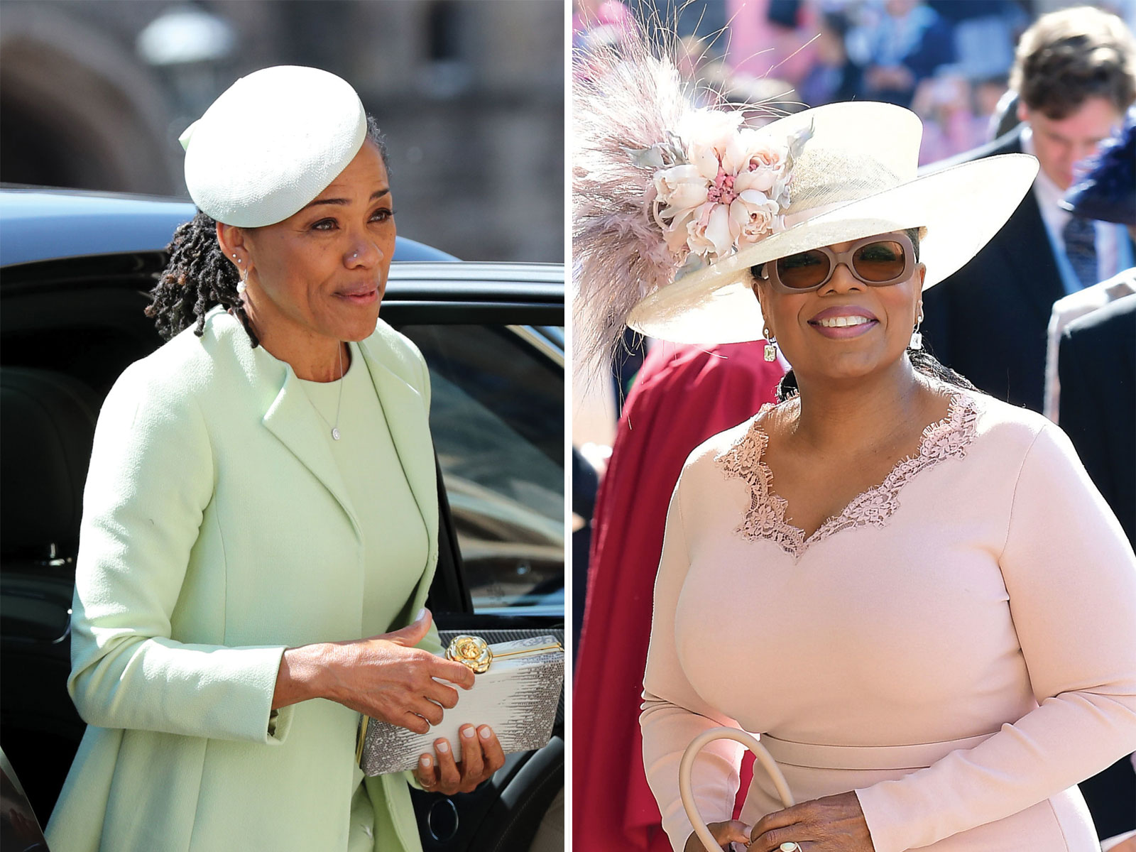 Oprah Winfrey and Doria Ragland at the wedding of Meghan Markle and Prince Harry