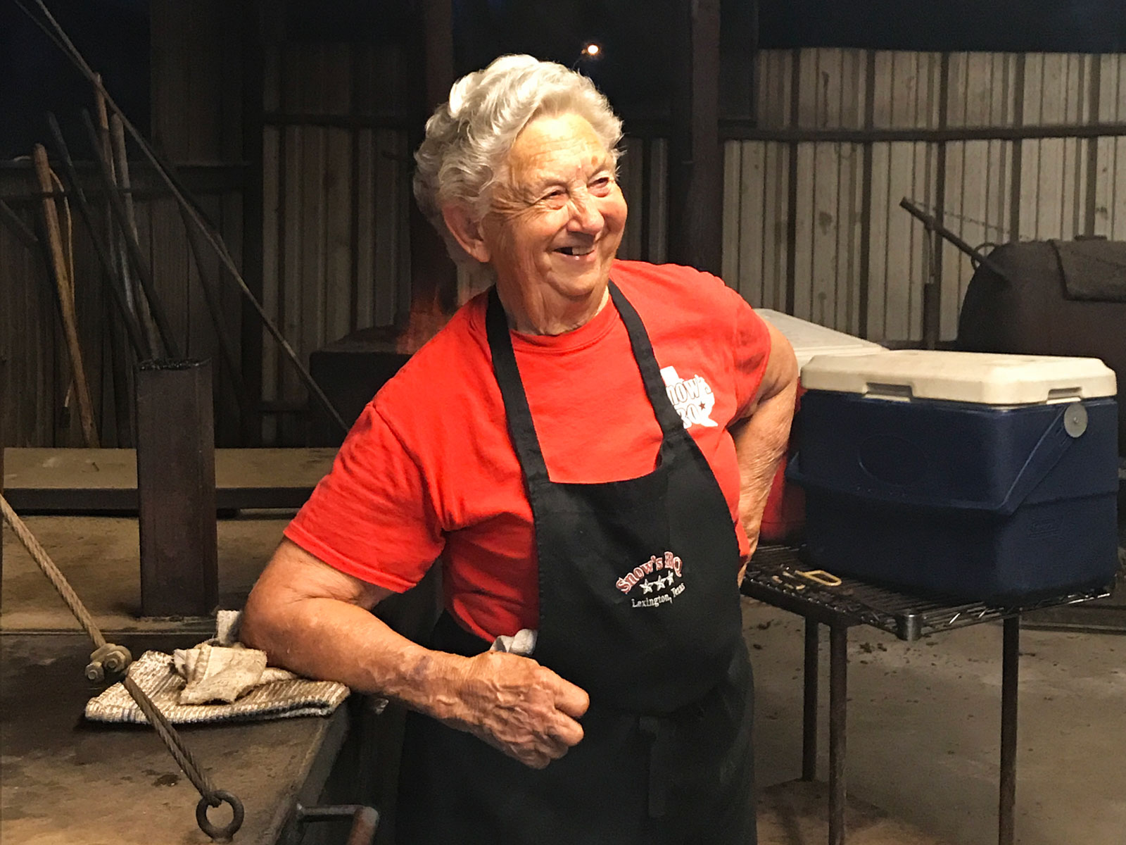 Tootsie Tomanetz of Snow's BBQ in Lexington, TX