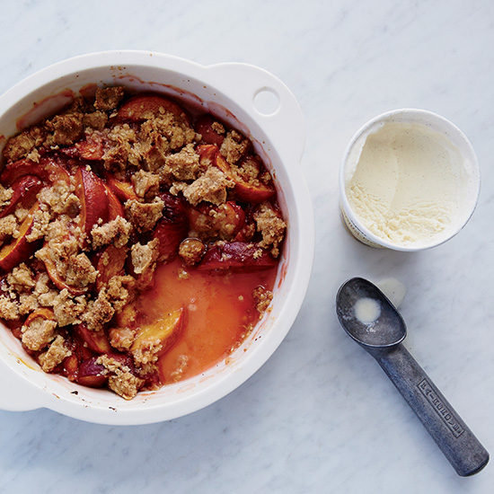 Peach Crisp with Brown Butter Crumble