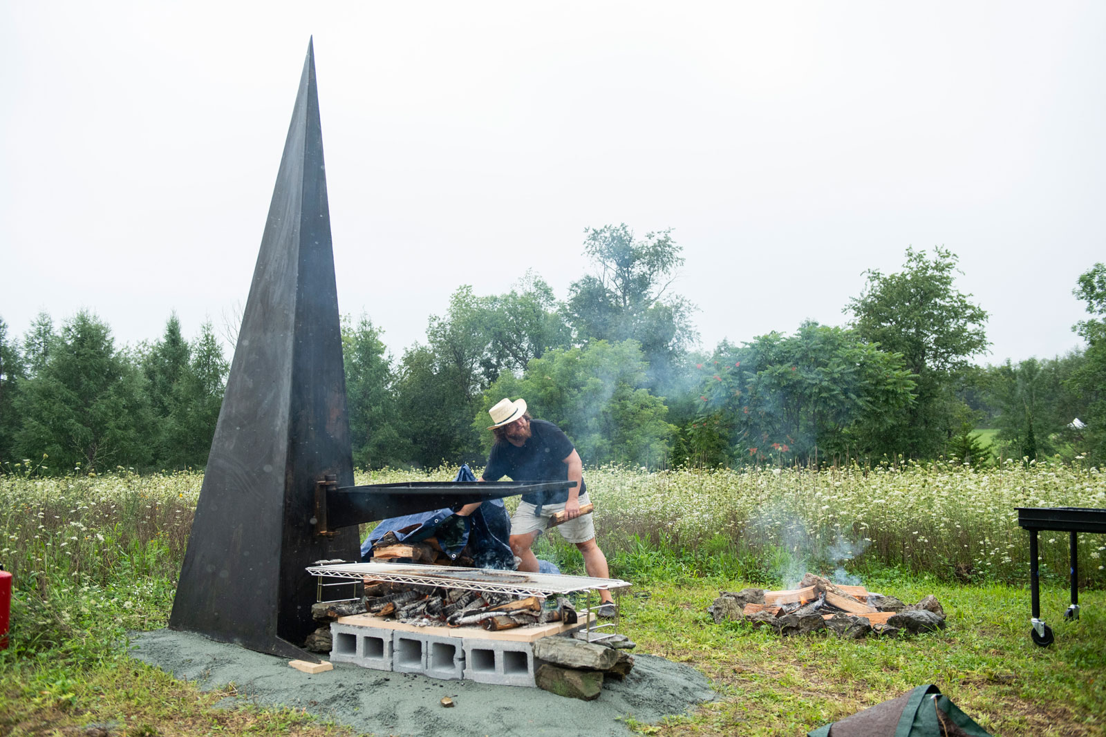 Play with Fire grilling sculptures
