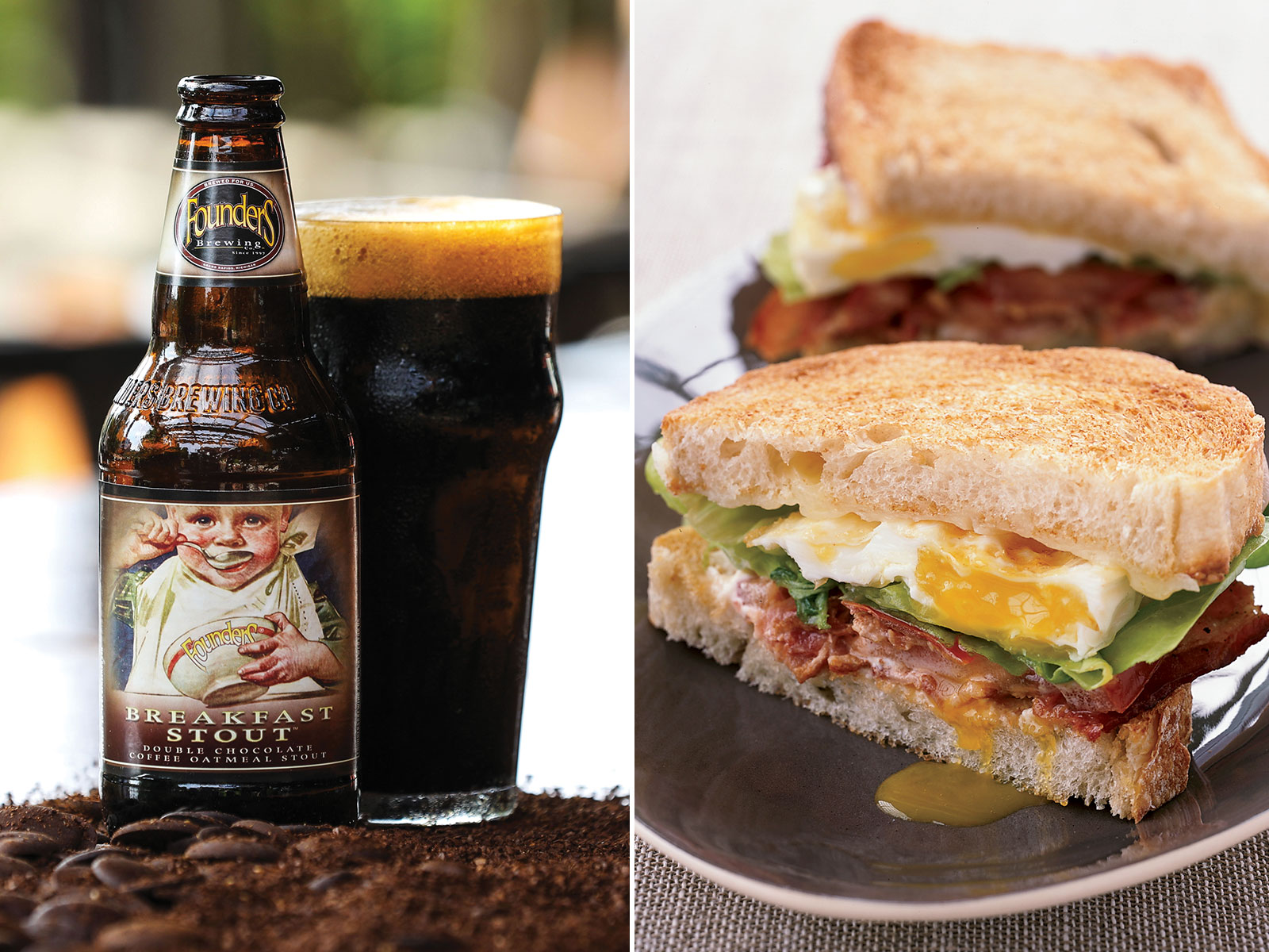 Bacon, Egg, and Cheese and Breakfast Stout