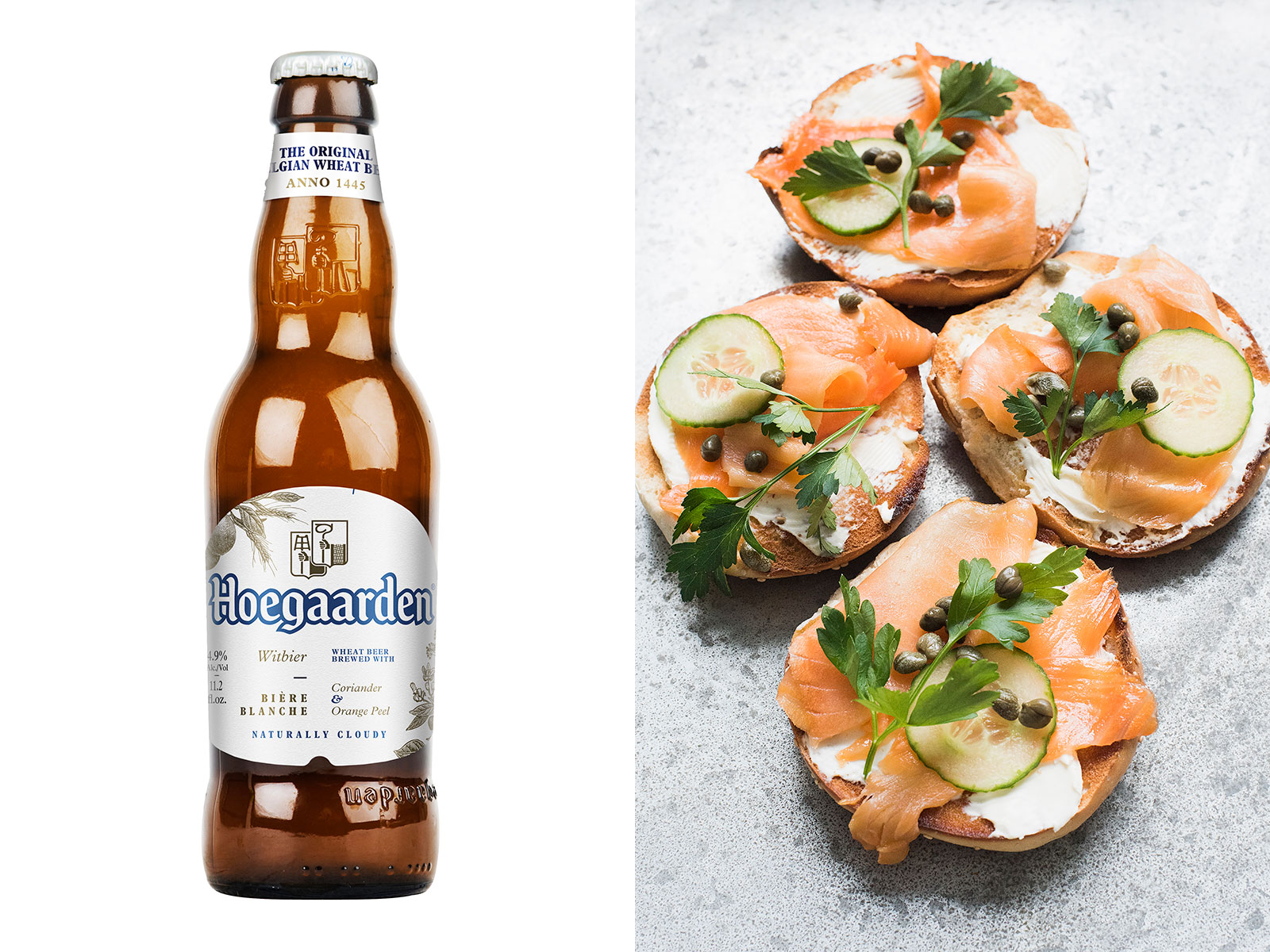 Bagel and Lox and Hoegaarden