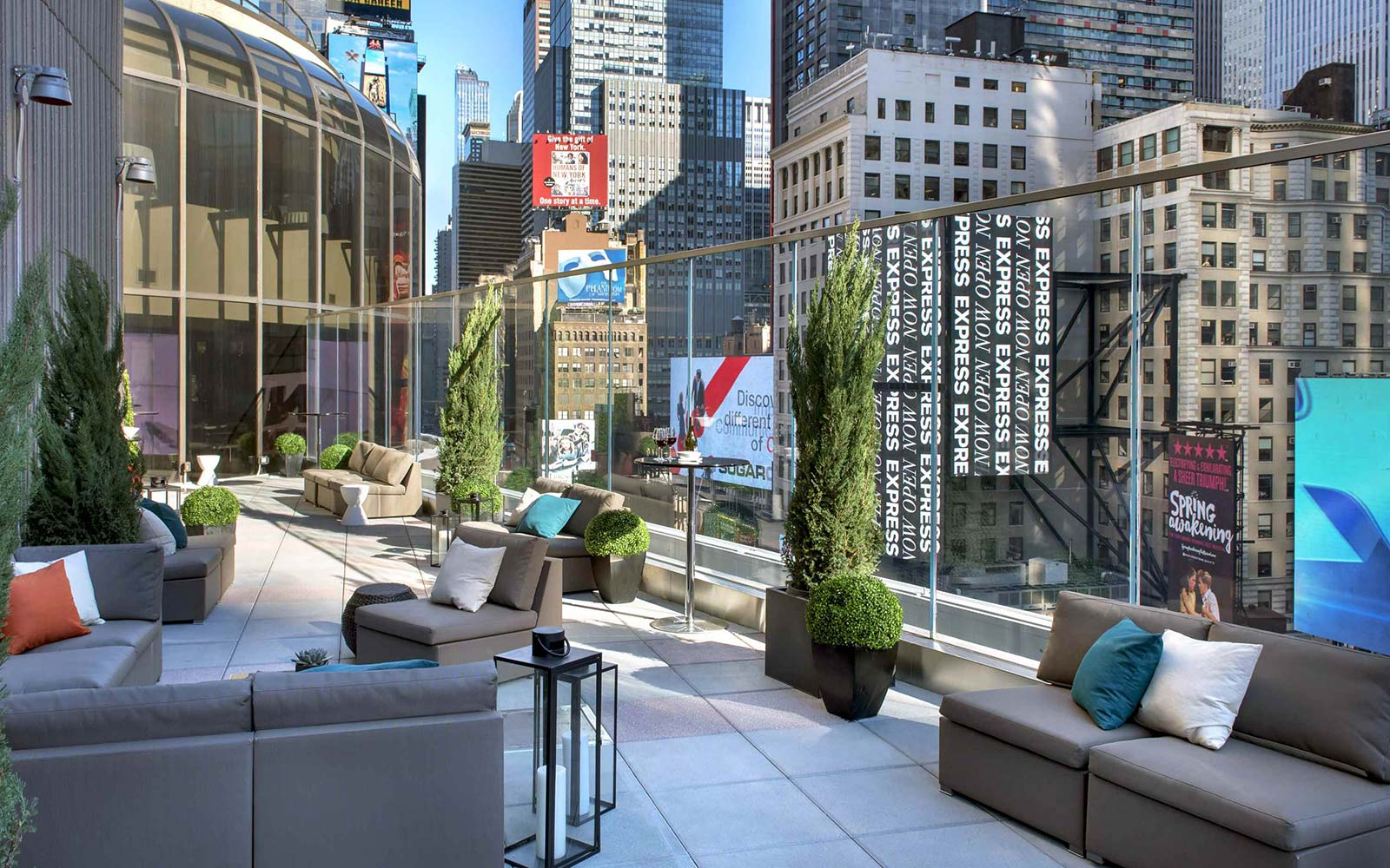 Broadway Lounge & Terrace, New York Marriott Marquis: Times Square