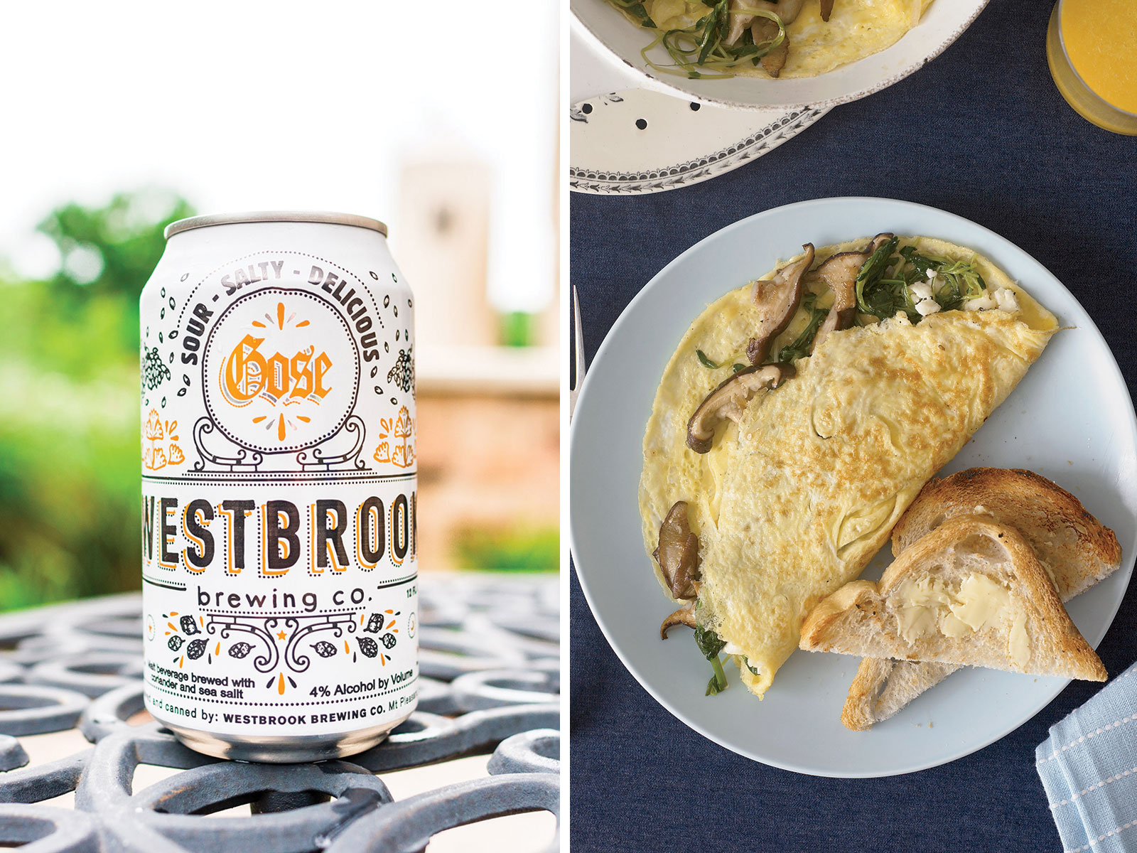Goat Cheese Omelet and Gose