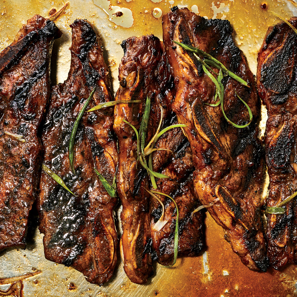 Grilled Korean Style Short Ribs Recipe Linda Burum Linda Merinoff Food Wine